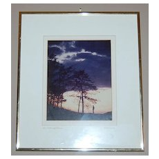 1960s 'An Evening Alone' Framed Photograph ~ Signed