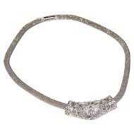 1950s Best ~ Silvertone Butterfly Slide Pendant Necklace