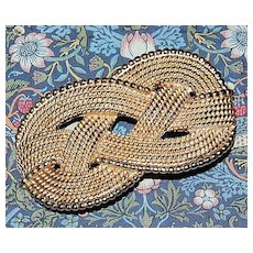1980s Gay Boyer ~ Textured Knot Belt Buckle