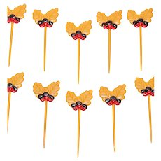 Set of 10 Acorn & Leaf Cupcake Toppers ~ 2 Sets Available