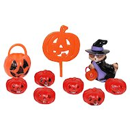 Hallmark Set of 9 Witch & Pumpkin Cupcake Toppers