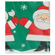 1982 American Greetings Christmas Santa 'Tis the Season To Be Jolly' Table Cover/Paper Tablecloth