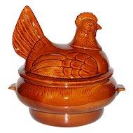 Circa 1960s California Pottery Large Ceramic Figural Turkey Soup Tureen / Server