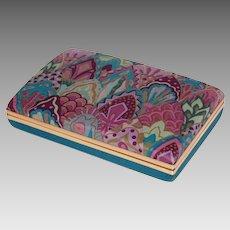 1960s Pop Art Purple & Turquoise Jewelry Travel Case