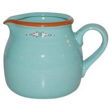 Noritake Boulder Ridge Southwestern Style Turquoise Ceramic Creamer