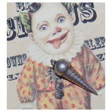 Circa 1940s Sterling Silver 3D Ice Cream Cone Pendant/Charm