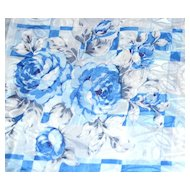 "Blue Rose Damask Polyester Fabric ~ 36 x 45"" Bolt"