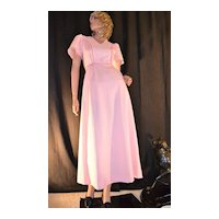 1970s E'n C Jr ~ Easter Pink Eyelet Maxi Dress