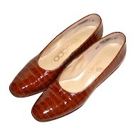 Adores Embossed Crocodile Patent Leather Heels ~ Size 6.5N