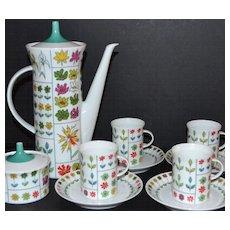 Emilio Pucci ~ Rosenthal ~ 12-Pc Coffee Pot & Demitasse Cup Set