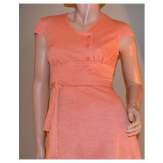 1960s Jerrell of Texas Orange Mini Dress