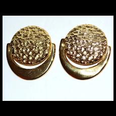 VTG Hammered Goldtone Shoe Clips