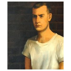 """1960s """"Tommy's Boyfriend"""" Gay Interest O/C Painting"""