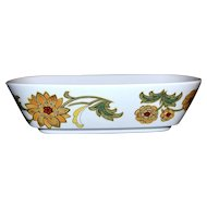 1970s Noritake ~ Aloha Rectangular Vegetable Bowl