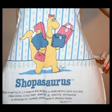 "1986 ""Shopasaurus"" Fabric Kitchen Apron"