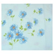 1960s Pacific Miracale ~ Blue Daisy Standard Pillowcase