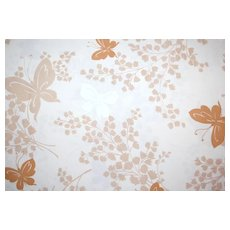 Circa 1960/70s Springmaid Butterfly Double Flat Sheet