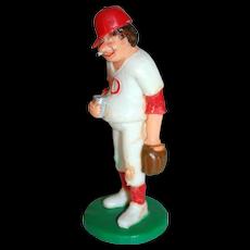 1989 Wilton ~ Smoking Baseball Player w/ Beer Cake Topper ~ Mint in Original Package