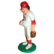 1989 Wilton ~ Smoking Baseball Player w/ Beer Cake Topper ~ Mint in Original Package
