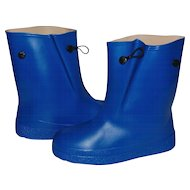 Water-Poofs Child's Royal Blue Rubber Galoshes ~ Never worn!