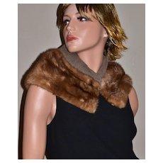 1940/50s Genuine Brown Mink Fur Collar Stole