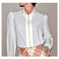 1970s Inner Visions  Ship N' Shore White Blouse Shirt