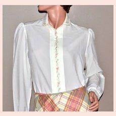 c1970s Inner Visions  Ship N' Shore White Blouse Shirt