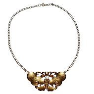 Alva Museum Replica ~ Chunky Gold-Plated Butterfly Necklace
