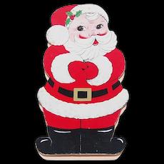 c1950s See's Candy Shops Christmas Santa Claus Die-Cut Chocolate Box