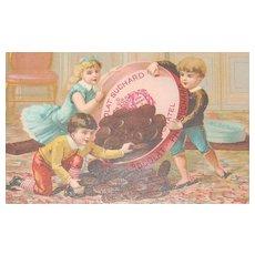 c1890s Suchard Chocolates Antique Victorian Chromolithograph Advertising Trade Card