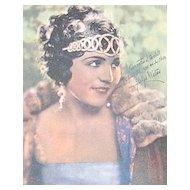 c1920s Amattler Chocolates Gladys Walton Advertising Trade Card