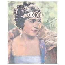 c1920s Amattler Chocolates Gladys Walton Advertising Trade Card