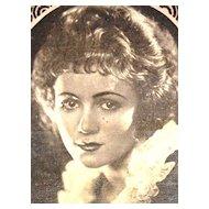 c1920s Art Deco Eduardo Pi Chocolates Actress Gladys Walton Original Advertising Trade Card
