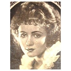 c1920s Art Deco Eduardo Pi Chocolates Actress Gladys Walton Original Advertising Trade Card