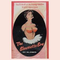 c1940s Bleumette Push-Up Bra Pads in Original Package