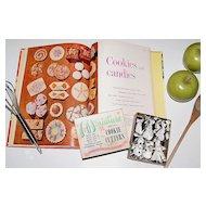 c1950s Miniature Boxed Cookie Cutters & Dessert Cook Book
