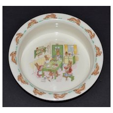 "Royal Doulton Bunnykins ""Baking in the Kitchen"" Bone China Bowl"