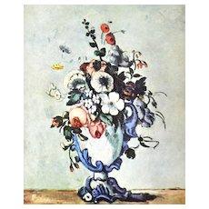 Cezanne Vase of Flowers Still Life Reproduction Art Print