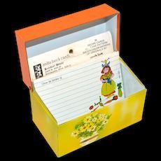 1960s Ohio Art ~ Recipe Box w/ Anita Beck Recipe Cards
