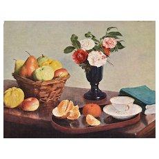Fantin-Latour National Gallery of Art Still Life Flower & Fruit Reproduction Art Print