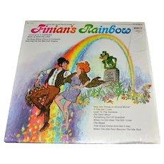 c1960s Finian's Rainbow Hit Songs LP Record
