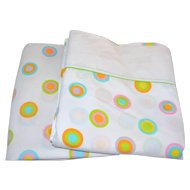 1960s 2-Pc Pop Art Circles Double Sheet Set