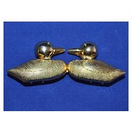 1980s Dotty Smith ~ Kissing Duck Belt Buckle