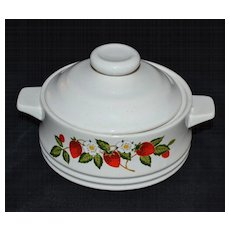 Sheffield ~ Strawberries n' Cream Sugar Bowl with Lid