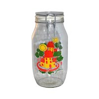 Carlton Glass ~ Ermetico Happy Home 2L Canister Jar
