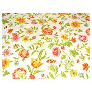 1960/70s Pequot ~ Yellow & Orange Flower Pillowcase