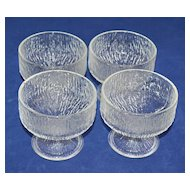 Indiana Glass ~ Set of 4 Crystal Ice Sherbet Glasses