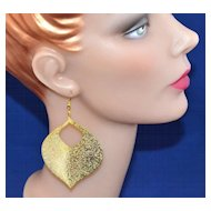 1970s Disco Genie Sparkly Dangle Earrings