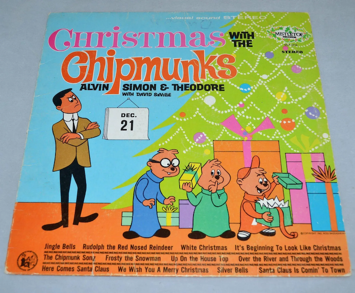 Alvin And The Chipmunks Christmas.1962 Christmas With The Chipmunks Lp Record