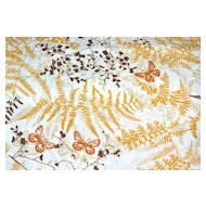 1970s Caress ~ 4-Pc Gold Butterfly Twin Sheet Set